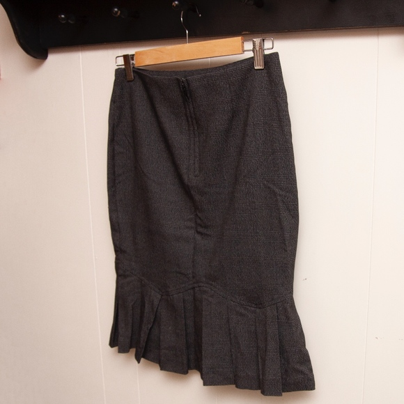 Pencil Skirt with Pleated bottom